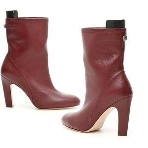 STUART WEITZMAN Brooks Cabernet Leather Booties